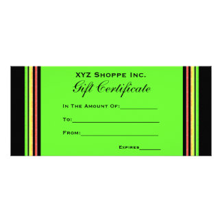 Gift Certificate rainbow stripes