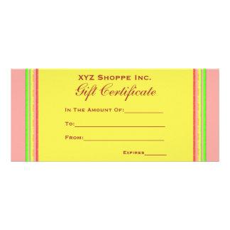Gift Certificate rainbow stripes Custom Rack Cards