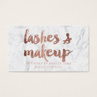 Gift certificate rose gold lashes makeup marble