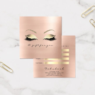 Gift Certificate Rose Pink Gold Lashes Makeup Eye
