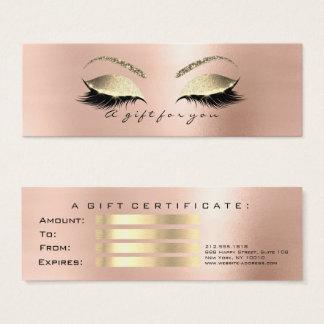 Gift Certificate Rose Skin Gold Lashes Makeup VIP