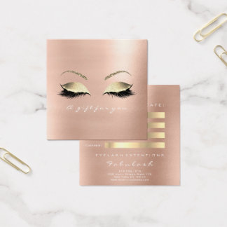 Gift Certificate Rose White Gold Lashes Makeup VIP