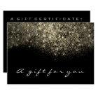 Gift Certificate Sepia Gold Glitter Lash Beauty Card
