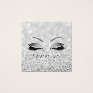 Gift Certificate Silver Gray Glitter Lashes Makeup