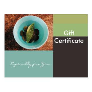 Gift Certificate Template-Flat-Geometric Bowl Postcards