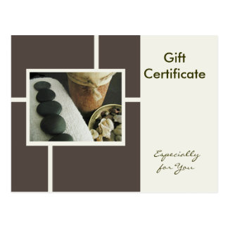 Gift Certificate Template-Flat-Stones & Candle Postcard