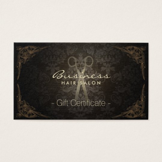 Gift Certificate Vintage Damask Hair Stylist