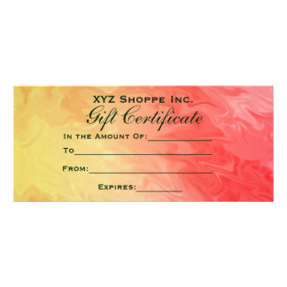 Gift Certificate Yellow Red Texture