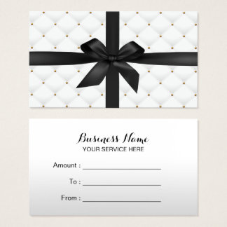 Gift Certificates Modern Black Ribbon Luxury Quilt