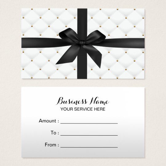 Gift Certificates Modern Black Ribbon Luxury Quilt