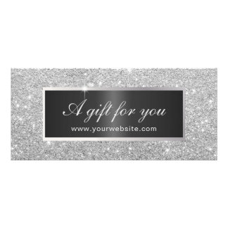 Gift Certificates | Modern Silver Glitter Salon