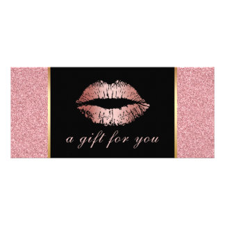 Gift Certificates | Rose Gold Glitter Lips Salon