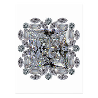Gift Diamond Brooch Postcard