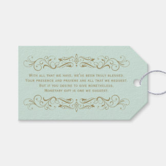 Gift Enclosure Card | Antique Gold Flourish Gift Tags