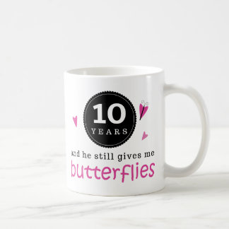 Gift For 10th Wedding Anniversary Butterfly Classic White Coffee Mug