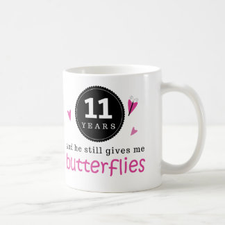 Gift For 11th Wedding Anniversary Butterfly Coffee Mug
