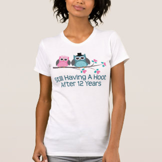 Gift For 12th Wedding Anniversary Hoot Tee Shirts