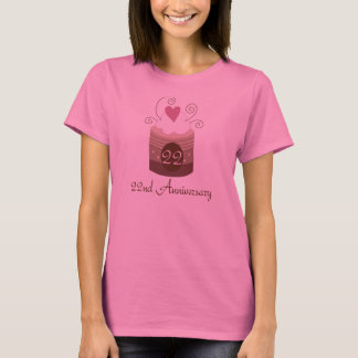 Gift For 22nd Wedding Cute Cupcake T-Shirt