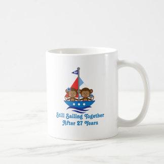 Gift For 27th Wedding Anniversary Monkeys Coffee Mug