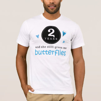 Gift For 2nd Wedding Anniversary Butterfly T-Shirt