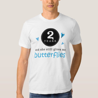 Gift For 2nd Wedding Anniversary Butterfly T Shirts
