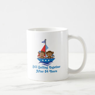 Gift For 34th Wedding Anniversary Monkeys Coffee Mug