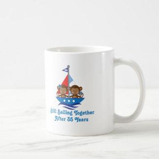 Gift For 35th Wedding Anniversary Monkeys Coffee Mugs