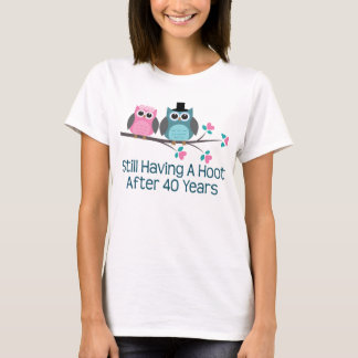 Gift For 40th Wedding Anniversary Hoot T-Shirt