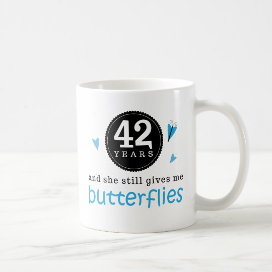 Gift For 42nd Wedding Anniversary Butterfly Coffee Mug