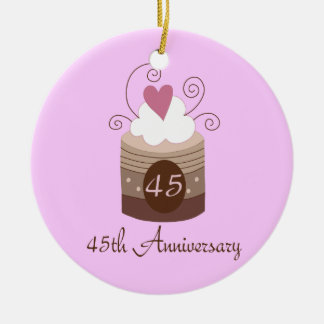 Gift For 45th Wedding Cute Cupcake Christmas Ornament