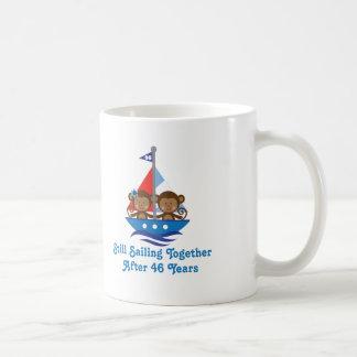 Gift For 46th Wedding Anniversary Monkeys Coffee Mug