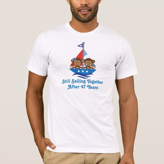 Gift For 47th Wedding Anniversary Monkeys T-Shirt