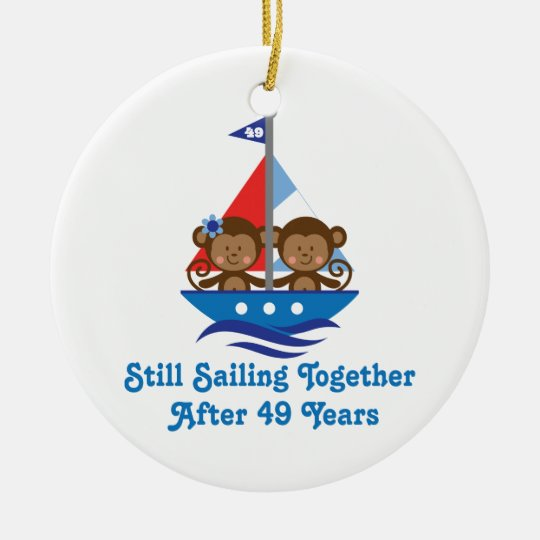 gift for 49th wedding anniversary monkeys christmas ornament