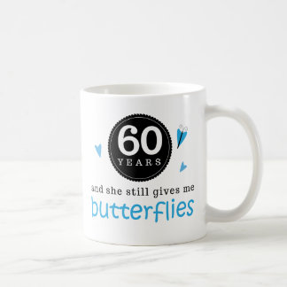 Gift For 60th Wedding Anniversary Butterfly Coffee Mug