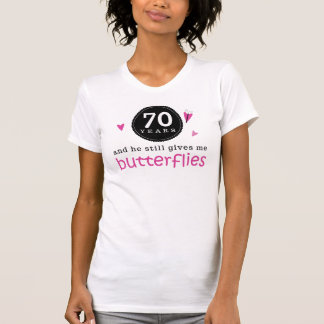 Gift For 70th Wedding Anniversary Butterfly T-Shirt