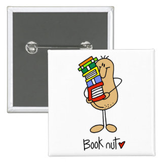 Gift For Book Lover 15 Cm Square Badge