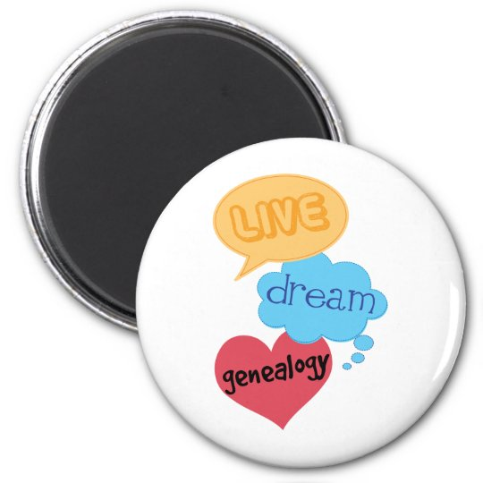 Gift for Genealogist 6 Cm Round Magnet