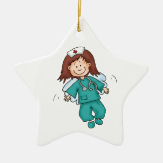 Gift for Nurse - Personalize with Name Christmas Ornament