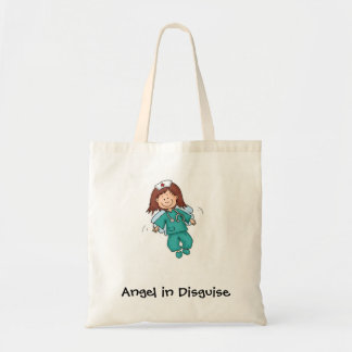 Gift for Nurses - Angel in Disguise Budget Tote Bag