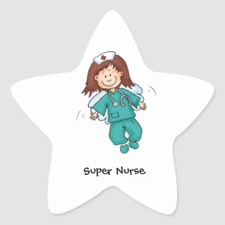 Gift for Nurses - Personalize with your name Star Sticker