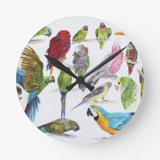 Gift for Parrot lovers everywhere Round Clock