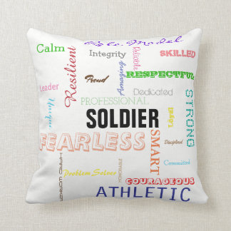 Gift for Soldier Pride Attributes Typography Cushion