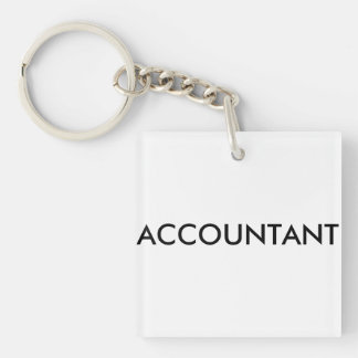 Gift for the accountant acrylic key chain