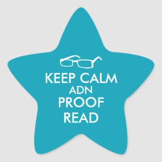 Gift for Writers Keep Calm and Proofread Star Sticker