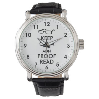Gift for Writers Keep Calm and Proofread Watch