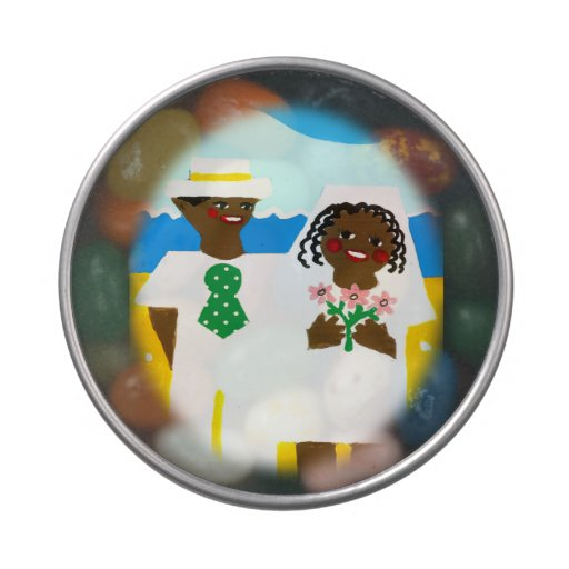 Gift from African American bride and groom Jelly Belly Candy Tin