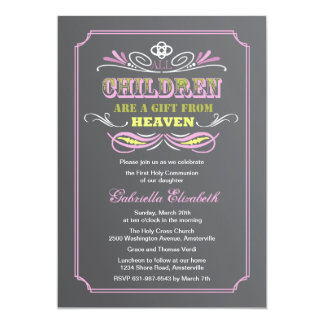 Gift from Heaven Pink Invitation