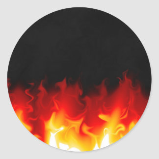 Gift from Hell in fire Classic Round Sticker