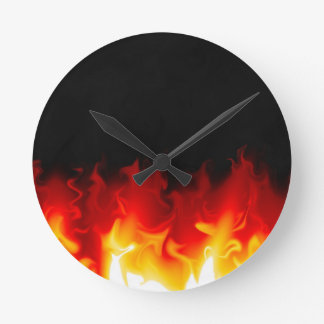 Gift from Hell in fire Round Clock