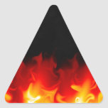 Gift from Hell in fire Triangle Sticker